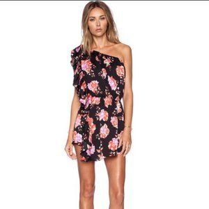 Tularosa Costa Dress in Black Floral